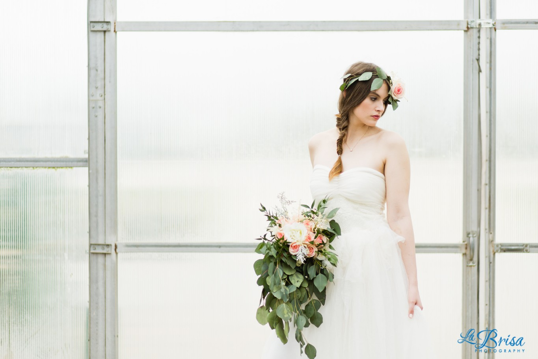 Greenhouse Bridal Portrait Belton Missouri  La Brisa Photography Emma York