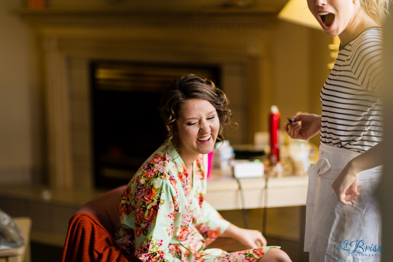 Bride Getting Ready Wedding Photography Floral Robe