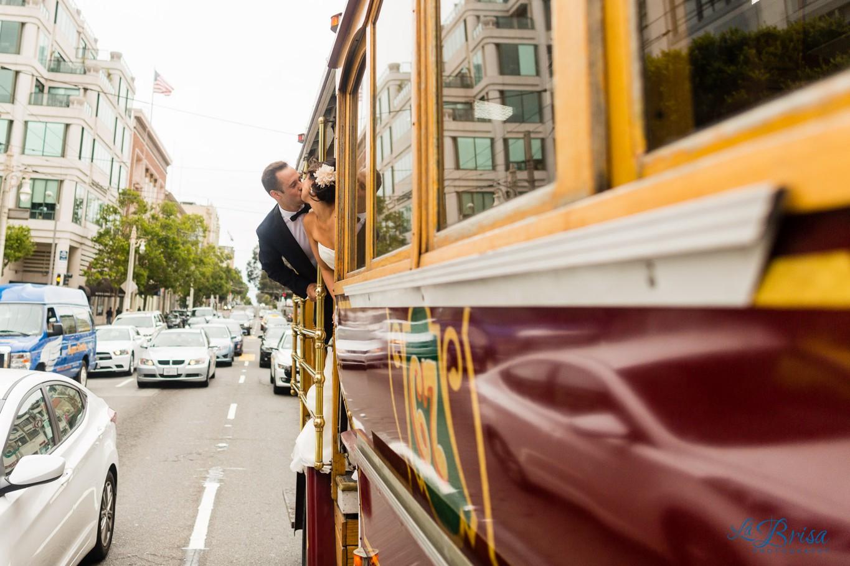 Wedding Cable Car San Francisco Chris Hsieh La Brisa Photography
