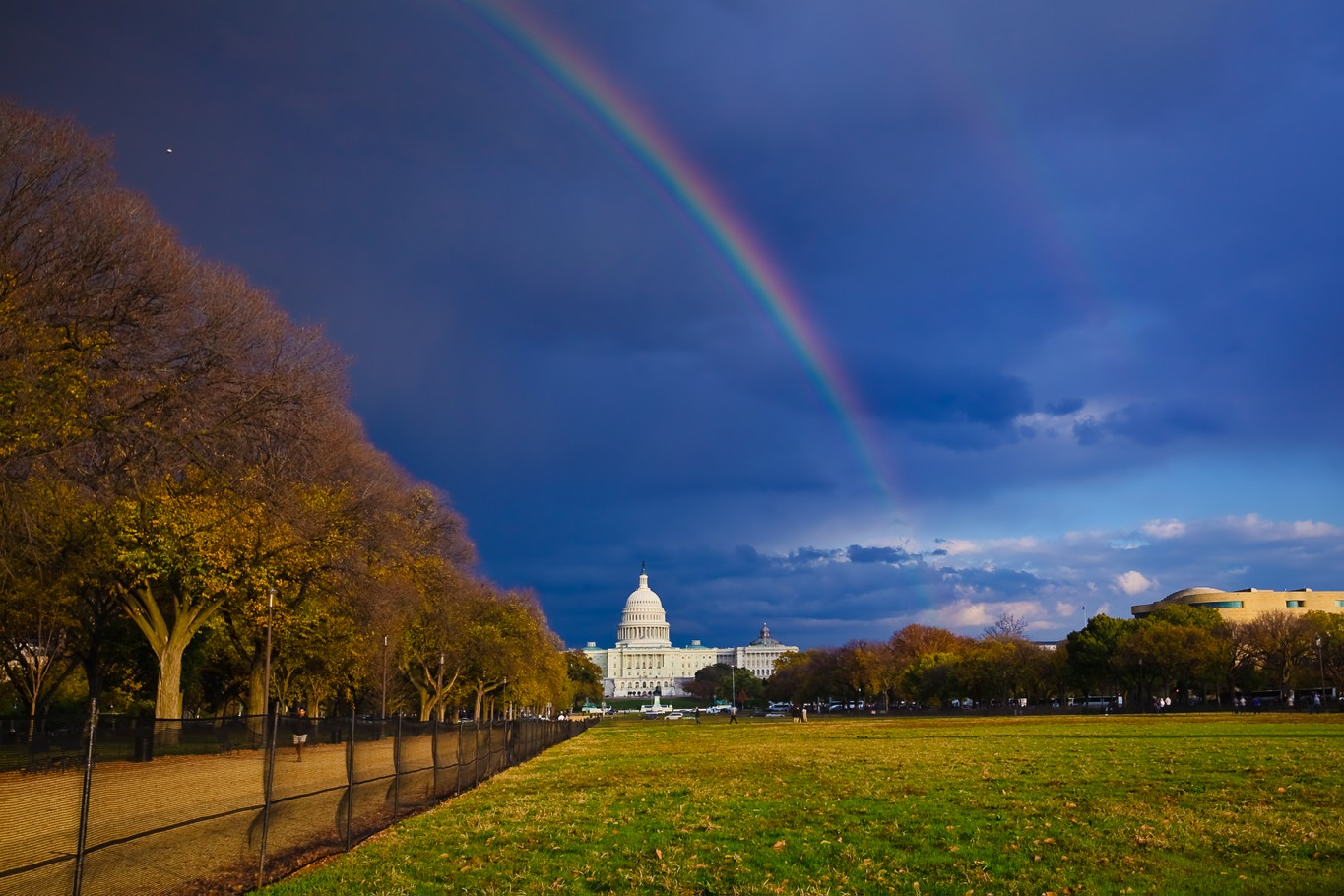 Rainbow Over Capitol Building Washington DC