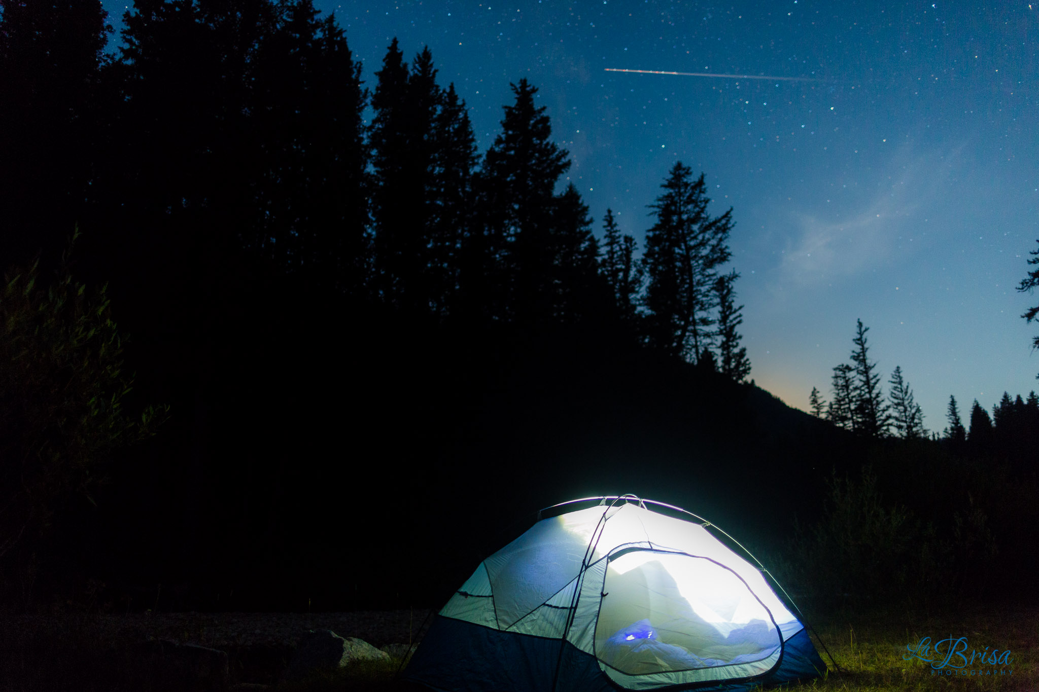 North Face Tent Under Stars