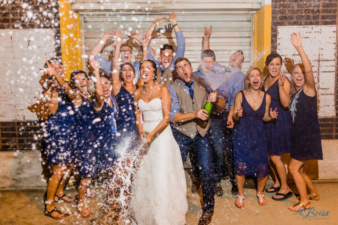 Popping Bottles Wedding Party