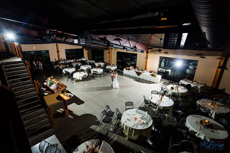 empty reception hall bride groom last dance