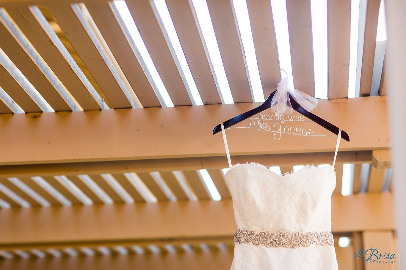 Wedding Dress with custom hangar