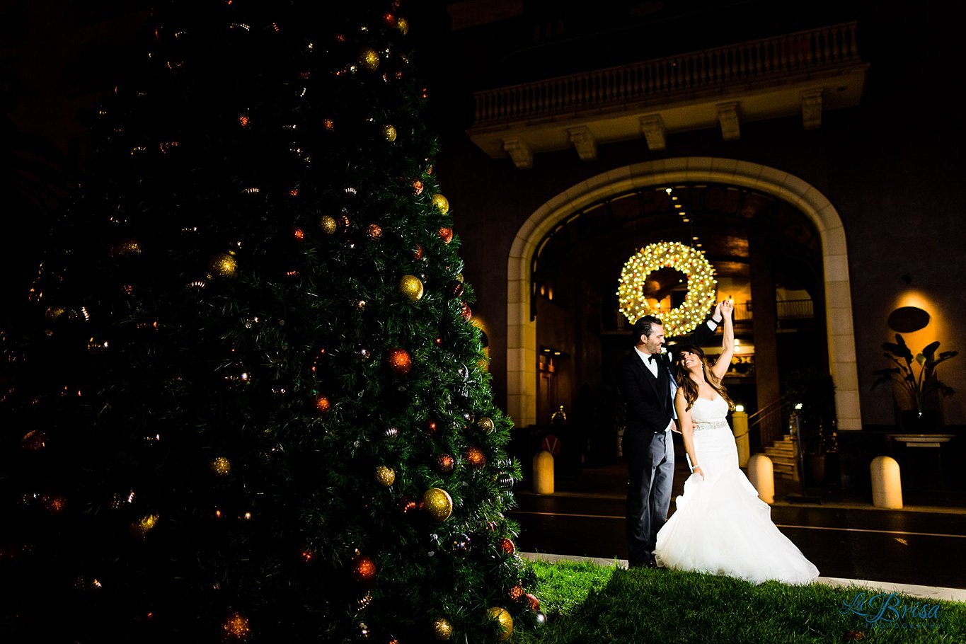 Santana Row Christmas Lights Wedding