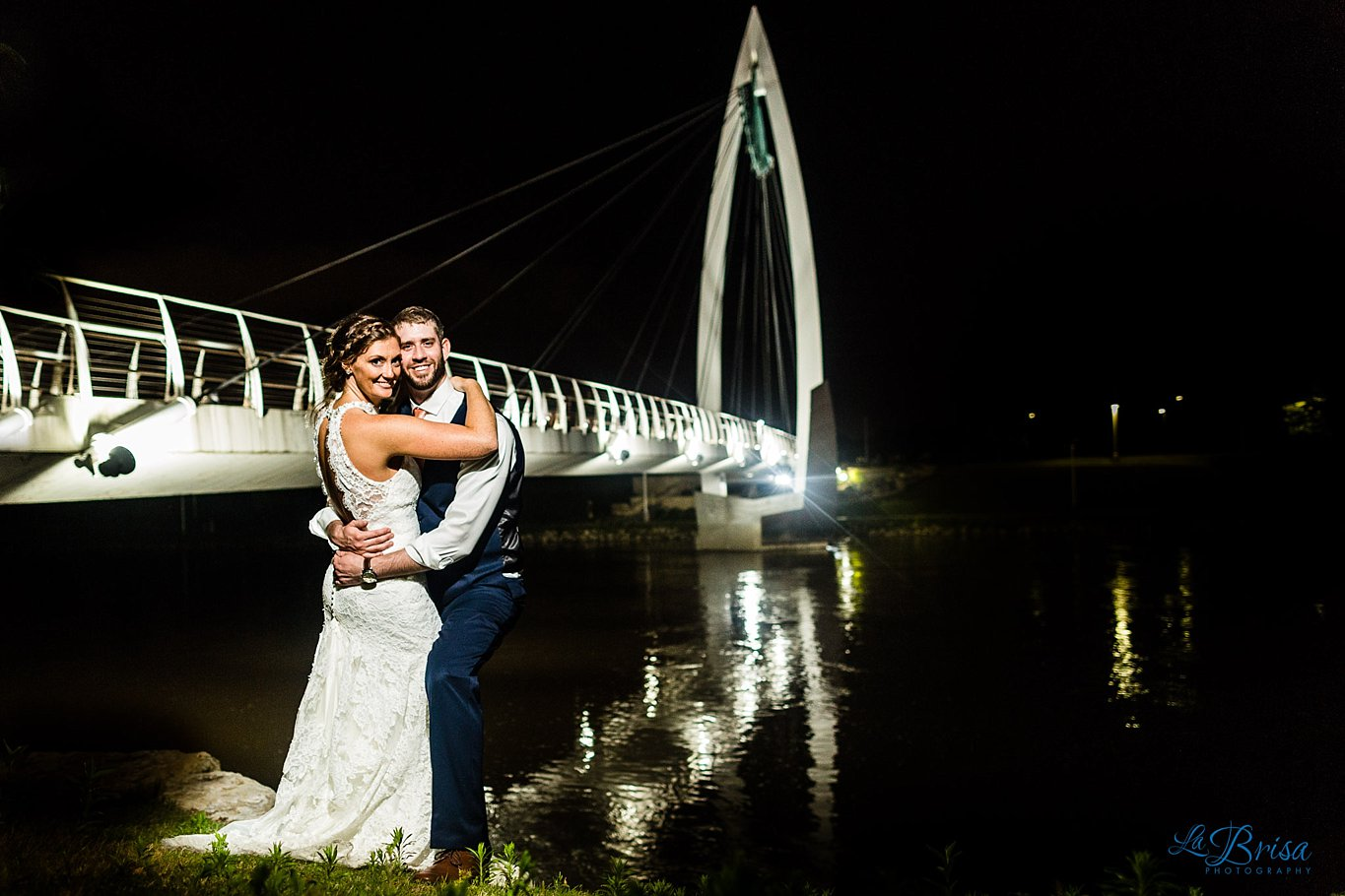 Keeper of the Plains Bridge Wedding