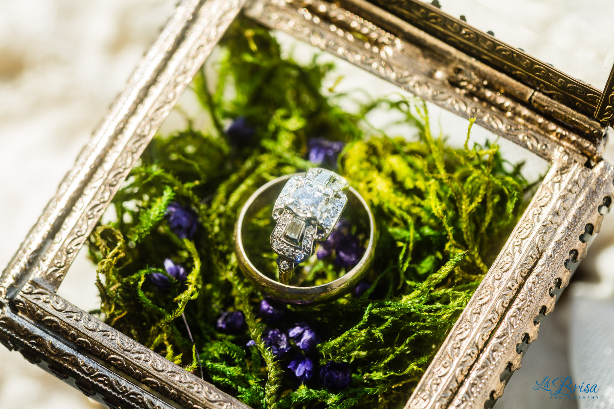 Custom Wedding Ring Box Moss