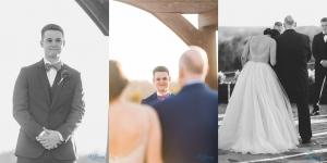 groom sees bride stonecrest wedding ceremony