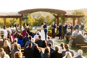 bride groom guests stonecrest wedding ceremony