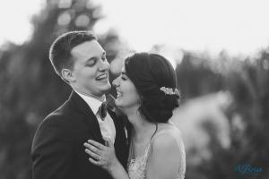 bride groom laughing black white stonecrest wedding