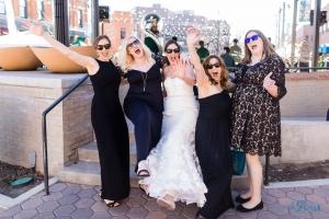 bride bridesmaids sunglasses