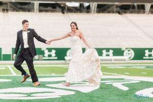 Wedding Portraits Colorado State Football Stadium