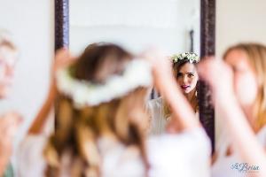Flower Crown Bride Cancun Destination Wedding