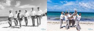 calvin klein groomsmen cancun destination beach wedding