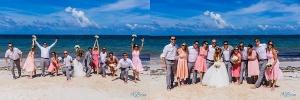 fun bridal party sunglasses beach cancun destination wedding