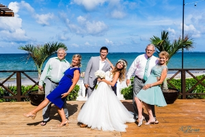 Now Sapphire Cancun Tequila Terrace Formal Wedding Portrait