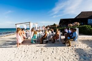 now sapphire cancun beach wedding ceremony