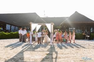 now sapphire cancun beach wedding ceremony tequila terrace