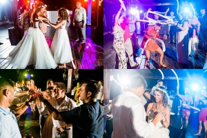 Now Sapphire Riviera Cancun Destination Wedding Reception Dancing