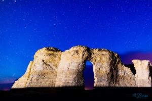 Monument Rocks Night Stars