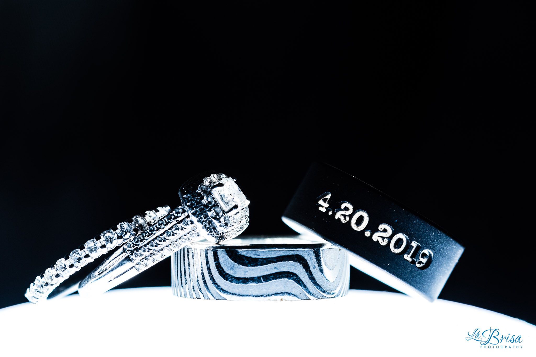 rubber wedding ring date inscribed