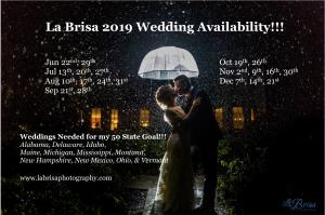 2019 La Brisa Wedding Availability