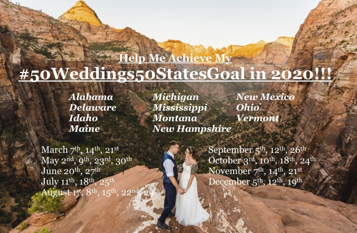#50Weddings50StatesGoal
