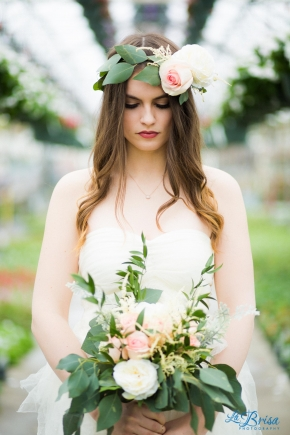Greenhouse Bridal Portrait Belton Missouri La Brisa Photography Emma York