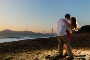 Engagement Session Golden Gate Bridge Baker Beach La Brisa Photography Chris Hsieh