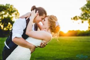 Wedding Bride Groom Sunset Central City Nebraska La Brisa Photography Sarah Gudeman