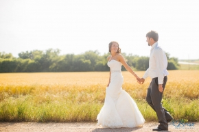 Bride Groom Portrait Wichita Kansas Wedding Autumn Shoemaker La Brisa Photography