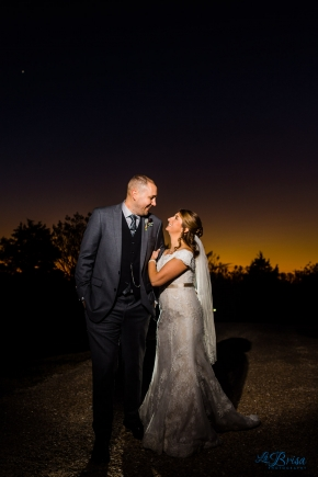 New Kent Winery Sunset Wedding