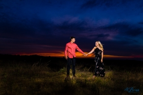 Midwest Epic Sunset Engagement