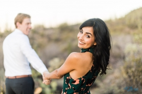 Desert sunrise marana engagement photography